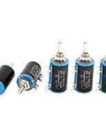 WXD3-13 1K Ohm 2W 4 Pins Rotatable 10 Turn Wire Wound Potentiometer 5 Piece