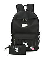 Women Backpack Oxford Cloth All Seasons Outdoor Shopping Bucket Ruffles Zipper Light Blue Gray Dark Blue Blushing Pink Black