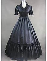 Un Pezzo/Vestiti Gotico Lolita Cosplay Vestiti Lolita Vintage Ad aletta Manica corta Raso terra Abito Per Altro