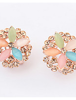 Euramerican Fashion Multicolor Rhinestone Opal Women's  Casual   Elegant  Ear Clips  Movie Jewelry
