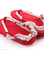 Men's Slippers & Flip-Flops Comfort Tulle Leatherette Spring Casual Comfort Ruby Gray Black Flat