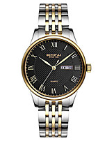 Homens Relógio Esportivo Relógio de Moda Bracele Relógio Japanês Quartzo Calendário Impermeável Lega Banda Luxuoso Prata