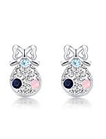 Women's Stud Earrings Jewelry Fashion Personalized Euramerican Rhinestone Alloy Jewelry Jewelry For Wedding Party Anniversary