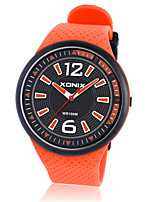 Men's Sport Watch Digital Water Resistant / Water Proof Rubber Band Black Orange Yellow