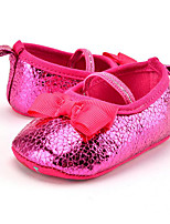 Baby Kids' Loafers & Slip-Ons First Walkers Synthetic Summer Fall Party & Evening Dress Casual Bowknot Animal Print Flat Heel Blushing Pink Red