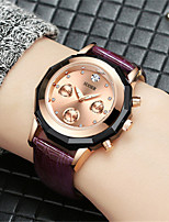 Women's Fashion Watch Quartz Genuine Leather Band Black White Red Brown Grey