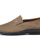 Men's Loafers & Slip-Ons Light Soles Fabric Summer Casual Flat Heel Coffee Flat