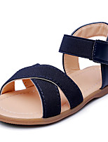 Boys' Sandals Comfort Leatherette Summer Fall Wedding Outdoor Office & Career Party & Evening Casual Bowknot Magic Tape Low HeelDark Blue