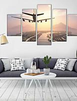 Estampados de Arte Paisagem Moderno,5 Painéis Horizontal Decoração de Parede For Decoração para casa