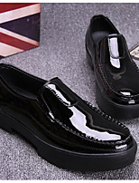 Men's Loafers & Slip-Ons Comfort Tulle Leather Spring Casual Comfort Black Flat