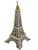 Quebra-cabeças Quebra-Cabeças 3D Blocos de construção Brinquedos Faça Você Mesmo Arquitetura Madeira Modelo e Blocos de Construção