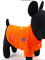 Dog Costume Coat Shirt / T-Shirt Dog Clothes Cute Sports Casual/Daily Cosplay Cartoon Blue Orange