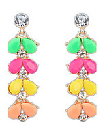 Women's  Drop Earrings  Leaves  Multicolor  Rhinestone  Euramerican  Adorable Elegant  Casual  Party  Movie Gift Jewelry