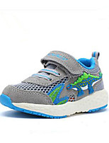 Boys' Sneakers Comfort Tulle Summer Fall Casual Animal Print Shoes Baby Breathable Shoes Green/Blue Gray Flat