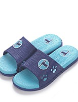 Masculino Chinelos e flip-flops Conforto Couro Ecológico Primavera Casual Conforto Azul Rasteiro