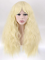 Popular Blonde Color Natural  Wave Synthetic Cosplay Wigs For Women