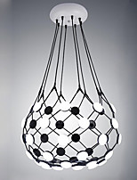 Design Led Pendant Lights Modern/Contemporary Painting Feature for Living Room Hotel Showroom Metal and Acrylic