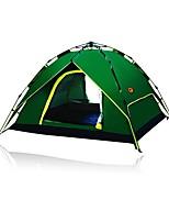 3-4 человека Световой тент Двойная Однокомнатная ПалаткаПоходы Путешествия-зеленый