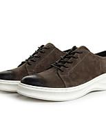 Men's Sneakers Suede Spring Black Dark Grey Dark Brown Flat