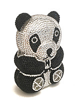 Luxury Panda Design Clutches Rhinestone for Sweet Ladies