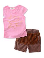 Girls Fashion Tassel Sets100%Cotton Summer Short Pant Baby Clothes Kids Clothing Set