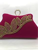 Для женщин Вечерняя сумочка Металл Замок с защелкой Синий Черный Красный Пурпурный