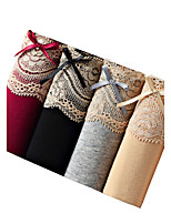 Women's Sexy Patchwork Seamless Panties Cotton Briefs Polyester Spandex Underwear
