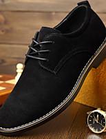 Для мужчин Туфли на шнуровке Удобная обувь Полиуретан Весна Повседневные Удобная обувь На плоской подошве Черный Коричневый СинийНа