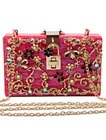 L.WEST Woman Fashion Luxury High-grade Decorative Pattern Hollow Out Evening Bag