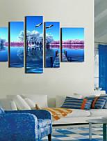 Art Print Landscape Pastoral Five Panels Horizontal Print Wall Decor For Home Decoration