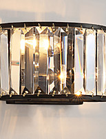 2*E12/ E14 Crystal Wall Lights Country Vintage Painting Feature for Crystal Wall Sconces Black or Coffee Color