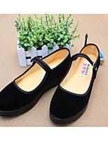Women's Sneakers Comfort Fabric Spring Casual Black Flat