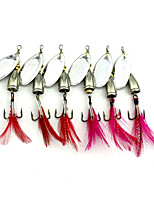 5 pcs Metal Bait Hard Bait Buzzbait & Spinnerbait Spoons Random Colors g/Ounce mm/2-3/4