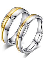 Paar Eheringe Bandringe Ring Simple Style Brautkleidung Titanstahl Runde Form Schmuck Für Hochzeit Party Verlobung Alltag