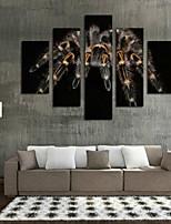 Estampados de Arte Animal Moderno,5 Painéis Horizontal Impressão artística Decoração de Parede For Decoração para casa