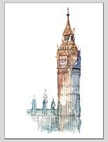 Pintados à mão Paisagem Panorâmico Vertical,Moderno Clássico 1 Painel Tela Pintura a Óleo For Decoração para casa