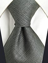 CXL20 For Men's Neckties Extra Long New Gray Solid 100% Silk Handmade Casual Fashion Business Dress