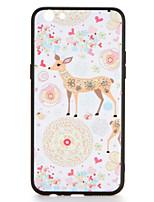 Para o novo r9s r9s mais caso capa padrão capa traseira cervo flor animal rígido pc r9 r9 plus