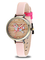 Women's Fashion Watch Quartz Leather Band Blue Grey Pink