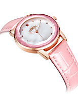 Mulheres Relógio de Moda Quartzo Couro Banda Branco Azul Rosa