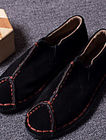 Men's Loafers & Slip-Ons Comfort Suede Spring Casual Black Flat