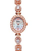 Women's Fashion Watch Quartz Alloy Band Sparkle Charm Rose Gold