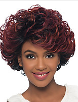 Short Synthetic Curly hair Wigs with Side Part 8inch Ombre Bug Wavy Women Wigs Heat Resistant Wig