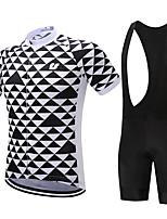 SUREA Велокофты и велошорты-комбинезоны Муж. Короткие рукава Велоспорт Наборы одеждыБыстровысыхающий Дышащий Сжатие видеоизображений