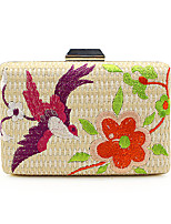L.WEST Woman Fashion Luxury High-grade The Embroidery Braided Strap Evening Bag
