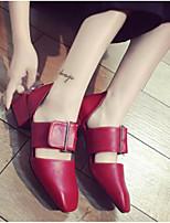 Mujer Sandalias Confort PU Primavera Casual Confort Negro Amarillo Rojo 2'5 - 4'5 cms