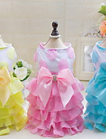 Other Dress Dog Clothes Cute Casual/Daily Wedding Princess Blushing Pink Pool Yellow