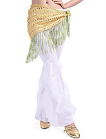Belly Dance Hip Scarves Women's Performance Linen Tassel(s) 1 Piece Hip Scarf