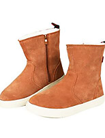 Couple's Boots Comfort Nubuck leather Suede Spring Casual Comfort Almond Navy Blue Coffee Flat