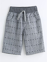 Boys' Houndstooth Pants-Cotton Summer